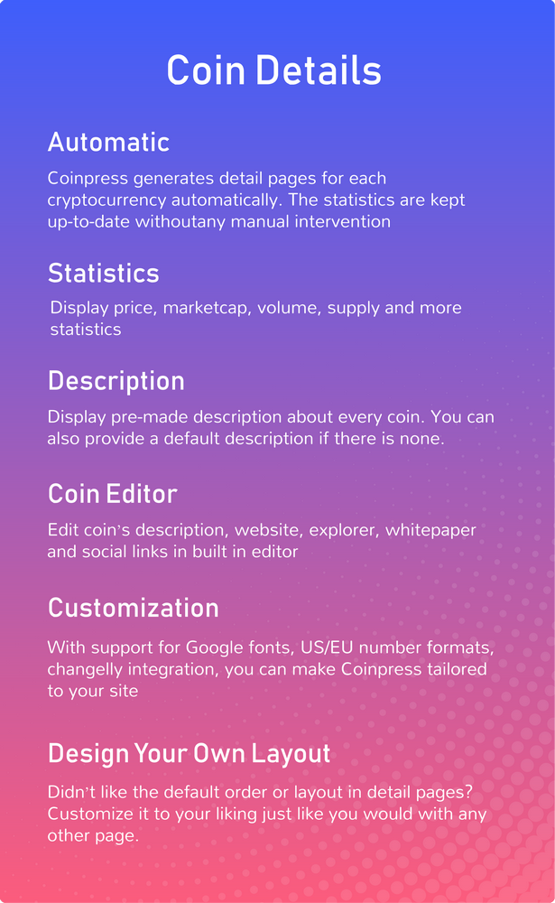 Coinpress - Cryptocurrency Pages for WordPress - 5